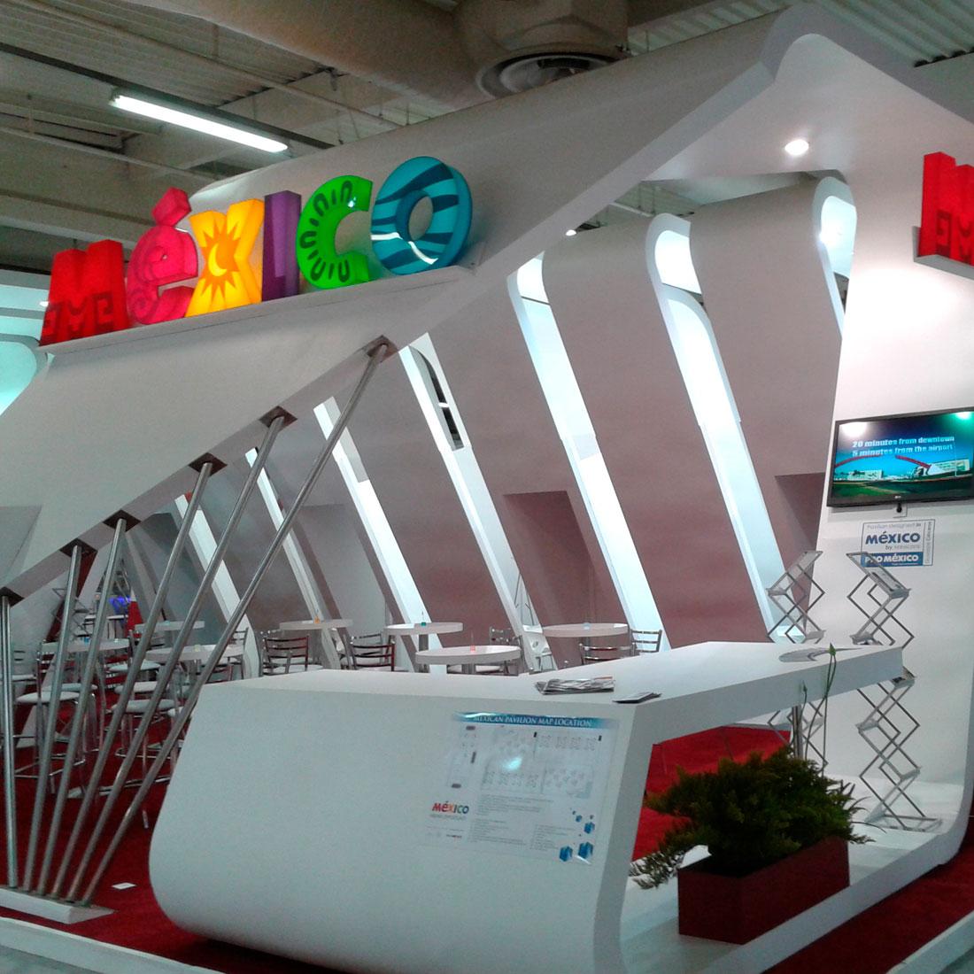 Diseño y montaje de stand para México