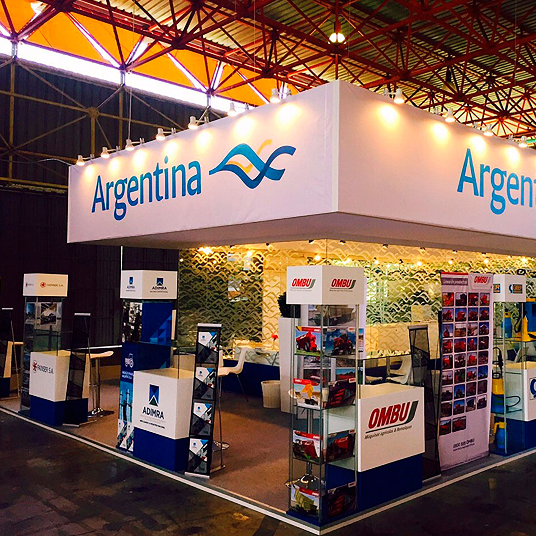 Diseño de stand para Argentina, montaje de a+j district