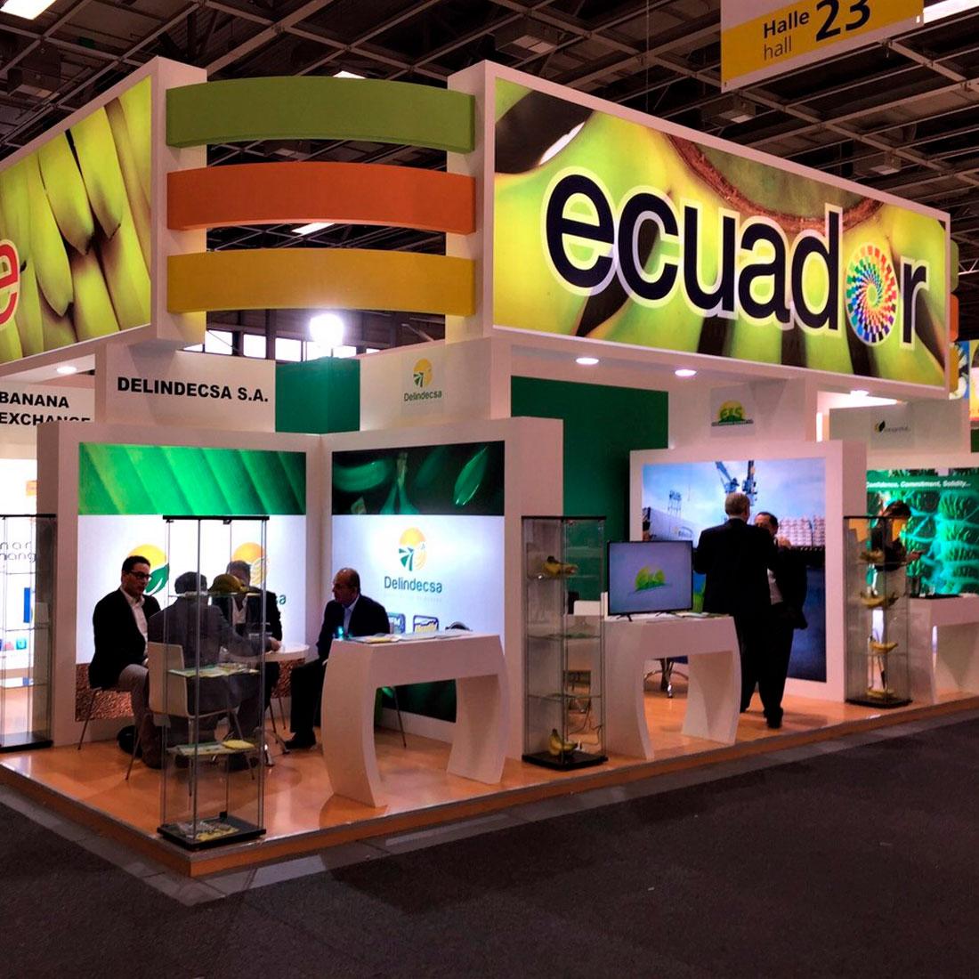 Diseño y montaje de stand para Ecuador