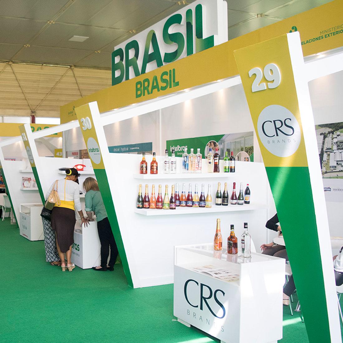 Diseño y montaje de stands para Brasil CRS Brands