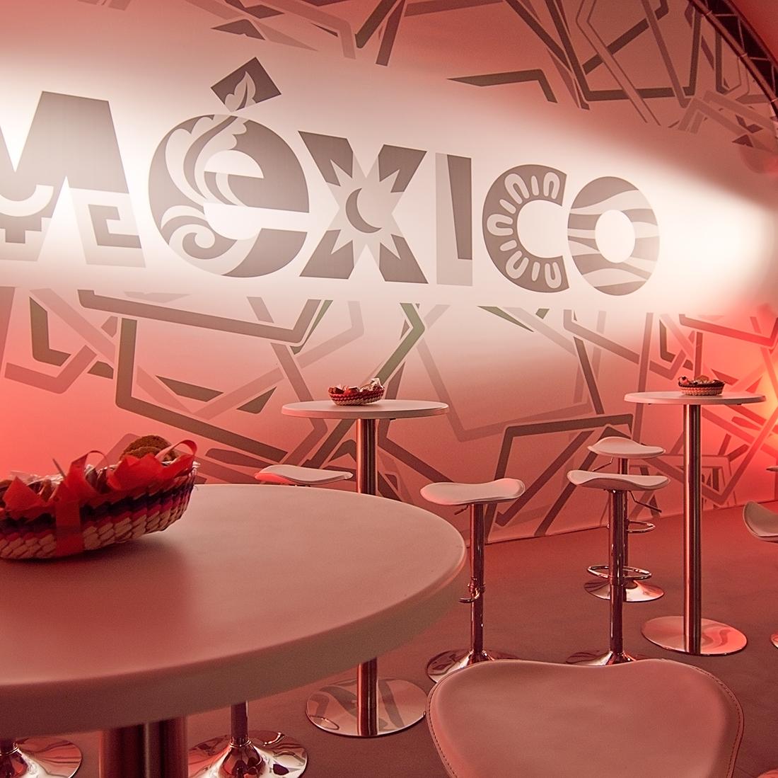 Organización de eventos, stand para México